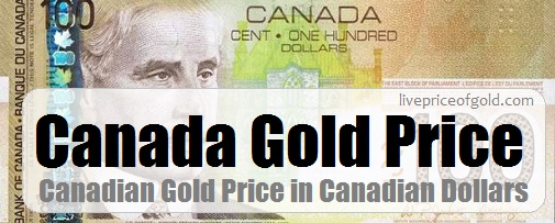 canada gold price