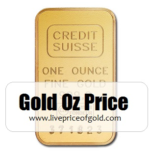 oz gold price